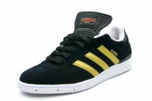 Notice the soccer tongue on this Adidas skatebaording shoe